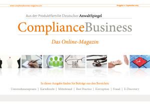 ComplianceBusiness_Magazin_Ausgabe2_2015_Titel