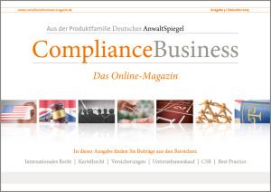 ComplianceBusiness Ausgabe 1 – 25. Juni 2015